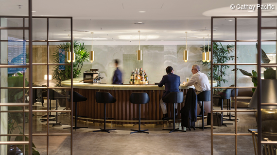 Cathay Pacific Lounges am Hong Kong International Airport